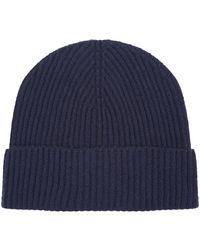 de51fc556fe Harrods Cable Cashmere Beanie Hat in Gray for Men - Lyst