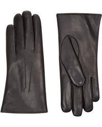 Harrods - Rabbit Fur Lined Leather Gloves - Lyst