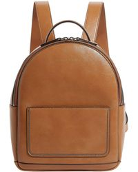 Brunello Cucinelli - Chain Trim Leather Backpack - Lyst