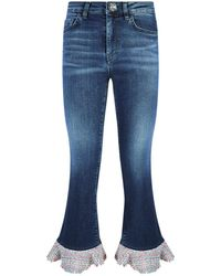 Pinko | Cropped Flare Jeans | Lyst