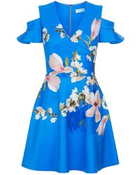 Ted Baker - Ambre Harmony Cold Shoulder Dress - Lyst