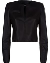 Akris - Cropped Leather Jacket - Lyst