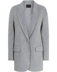 Alexander Wang - Zip Trim Wool Coat - Lyst