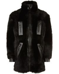 Givenchy - Long-haired Shearling Jacket - Lyst