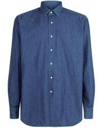 Harrods - Denim Long Sleeve Shirt - Lyst