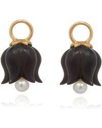 Annoushka - Yellow Gold And Ebony Tulip Earring Drops - Lyst
