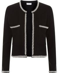 Claudie Pierlot - Knitted Embellished Trim Cardigan - Lyst