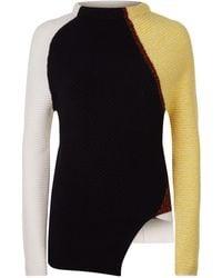 Sportmax - Graphic Patchwork Cashmere Sweater - Lyst