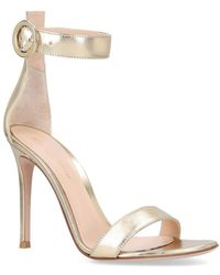 Gianvito Rossi - Leather Portofino Sandals 105 - Lyst
