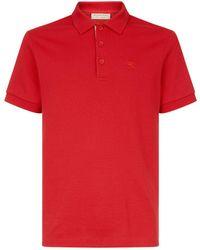 Burberry - Check Placket Polo Shirt - Lyst