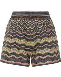 M Missoni - Metallic Wave Shorts - Lyst