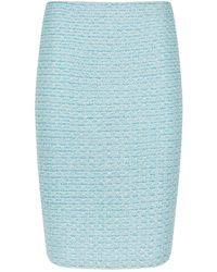 St. John - Metallic Tweed Pencil Skirt - Lyst