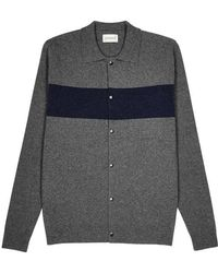 Oliver Spencer - Roxwell Grey And Navy Wool Jacket - Lyst