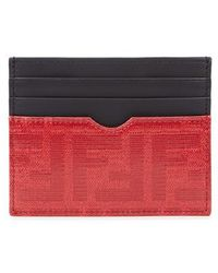 Fendi - Black Leather Card Holder - Lyst