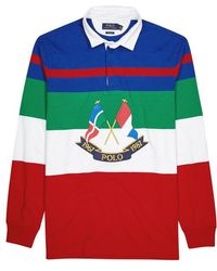 Polo Ralph Lauren - Striped Embroidered Cotton Rugby Shirt - Lyst