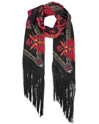 Givenchy | Iris Printed Silk Crepe Scarf | Lyst