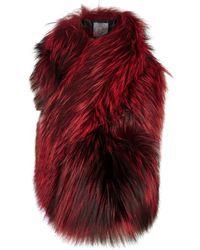 Lilly E Violetta - Arabella Red Fox Fur Scarf - Lyst