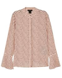 Donna Karan - Light Pink Polka-dot Silk Shirt - Lyst
