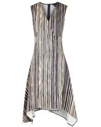 Donna Karan - Printed Stretch Cotton Dress - Lyst