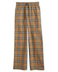 Burberry - Vintage Check Cotton Drawcord Trousers - Lyst