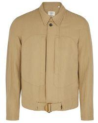 Kent & Curwen - Ludlow Sand Cotton-blend Jacket - Lyst