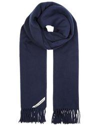 Acne Studios - Canada Navy Wool Scarf - Lyst
