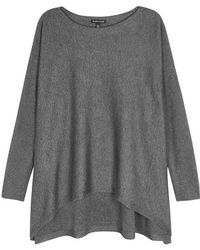 Eileen Fisher - Grey Knitted Jumper - Lyst
