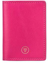Maxwell Scott Bags - Hot Pink Nappa Leather Oyster Card Holder - Lyst