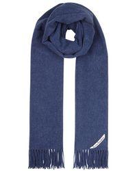 Acne Studios - Canada Blue Wool Scarf - Lyst