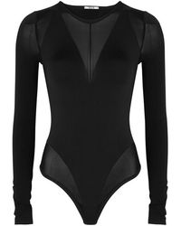 356e983f7c5f2 Wolford Anita Black Semi-sheer Bodysuit in Black - Lyst
