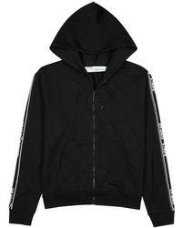 Off-White c/o Virgil Abloh - Black Hooded Cotton Sweatshirt - Lyst