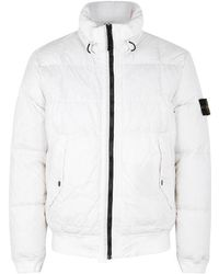 Stone Island - Off-white Quilted Nylon Jacket - Lyst
