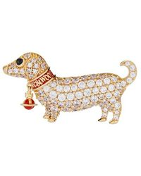 Vivienne Westwood - Cny Dog Brooch Gold Plated - Lyst