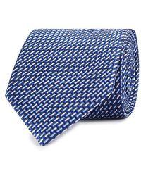 Eton of Sweden - Navy Silk Jacquard Tie - Lyst
