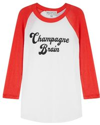 Wildfox - Champagne Brain Cotton Top - Lyst