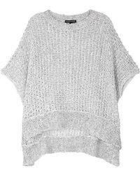 Eileen Fisher - Open-knit Cotton-blend Jumper - Lyst