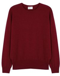 29463b7fd Johnstons Hamman Contemporary Round Neck Mens Cashmere Jumper in ...