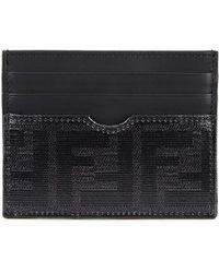 Fendi - Black Leather Card Holder - Lyst