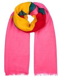 Gucci - Pink Logo-print Modal-blend Scarf - Lyst