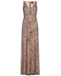 Adrianna Papell - Long Fully Beaded Dress - Lyst