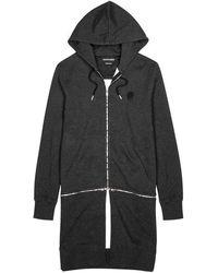 Alexander McQueen - Charcoal Hooded Cotton Sweatshirt - Lyst