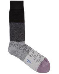 Paul Smith | Colour-block Wool Blend Socks | Lyst