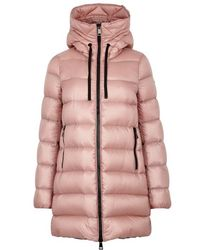 Moncler - Suyen Blush Quilted Shell Coat - Lyst