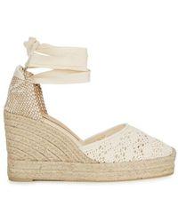 Castaner - Carina Cream Espadrille Wedge Court Shoes - Lyst
