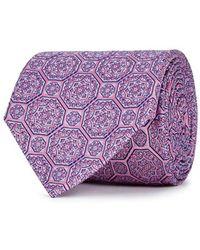 Eton of Sweden - Pink Medallion-jacquard Silk Tie - Lyst