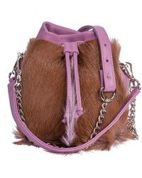 Sherene Melinda - Lavender Lou Lou Pouch Bag With A Fan - Lyst
