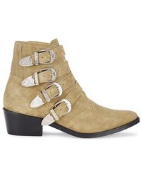 Toga Pulla - Taupe Suede Ankle Boots - Lyst