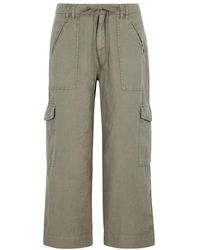 Joie - Flaminia Cropped Linen Cargo Trousers - Lyst