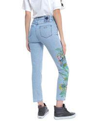 Mr & Mrs Italy - Printed Jeans Slim Denim - Lyst