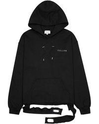 Collina Strada - Black Embellished Cotton-blend Sweatshirt - Lyst